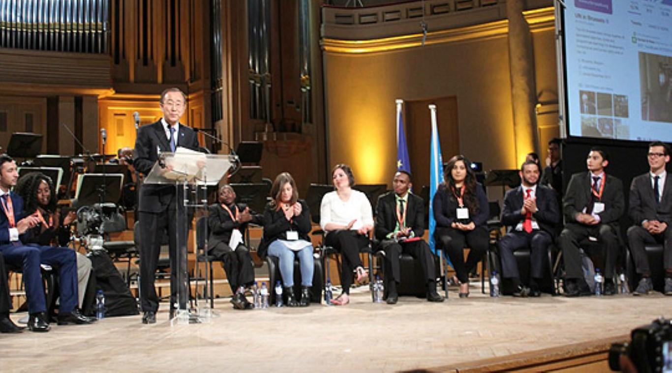 Бан Ки-мун го прогласи Македонецот Даниел Михајловски за еден од идните светски млади лидери