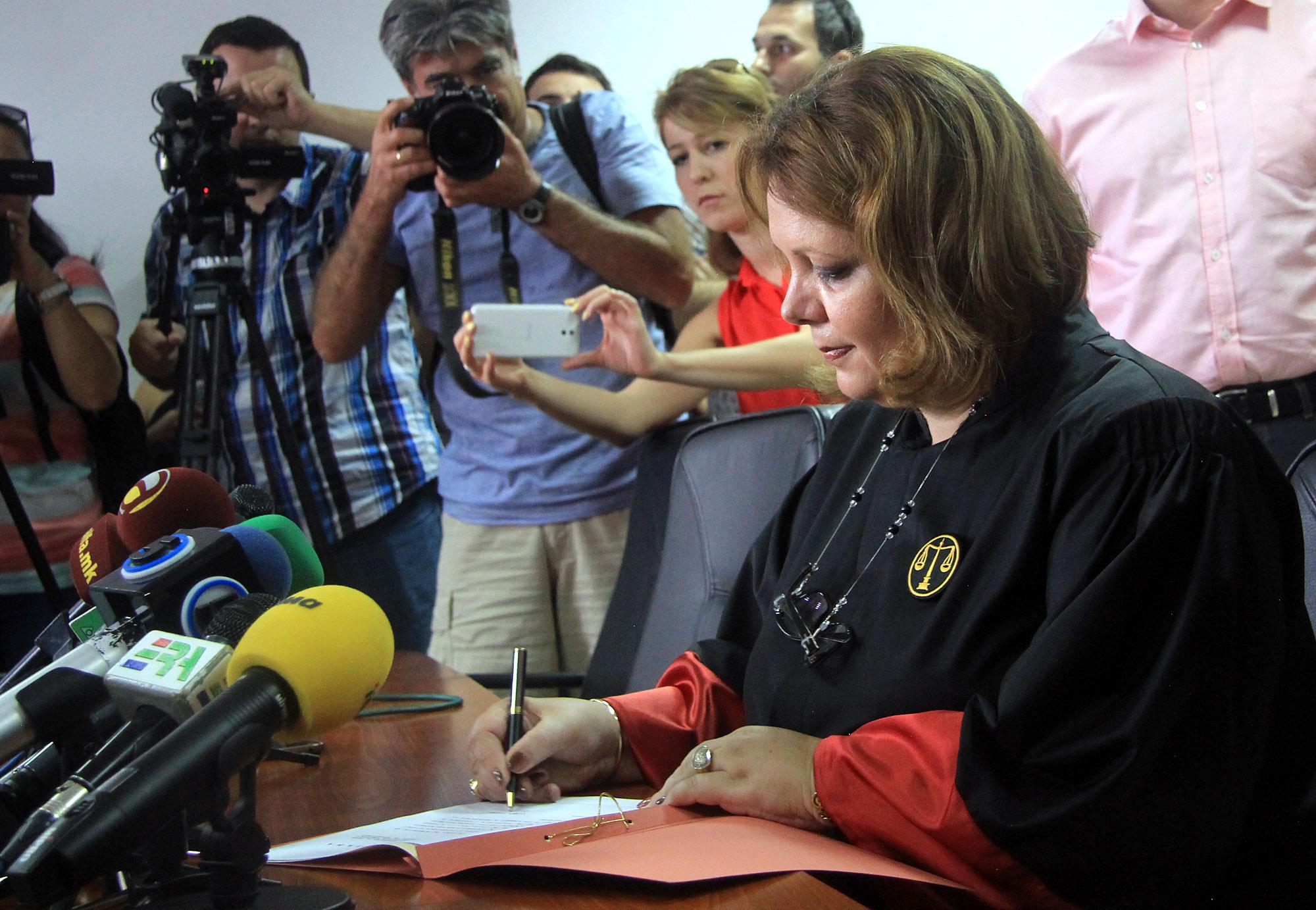 Новоизбраниот специјален обвинител Катица Јанева денеска даде свечена заклетва