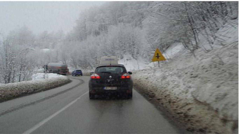 Снежна покривка во Маврови Анови, Лазарополе и Пожаране