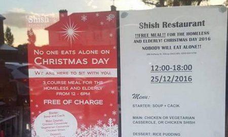 Муслимани во свој ресторан нудат бесплатен божикен оброк