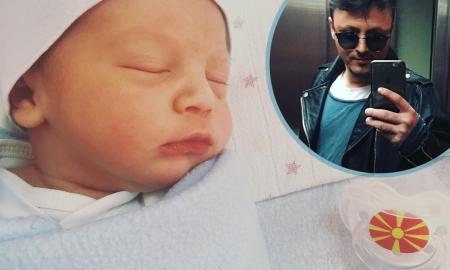 МОМЧЕ МАКЕДОНЧЕ: Даниел Кајмакоски објави фотографии од новородениот Давид (ФОТО)