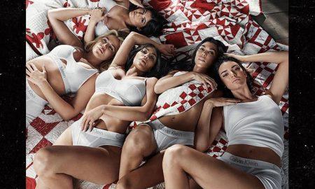 """ПО 5 МЕСЕЦИ КРИЕЊЕ: Кајли Џенер во провокативна фотосесија со своите сестри за """"Келвин Клаин"""""""