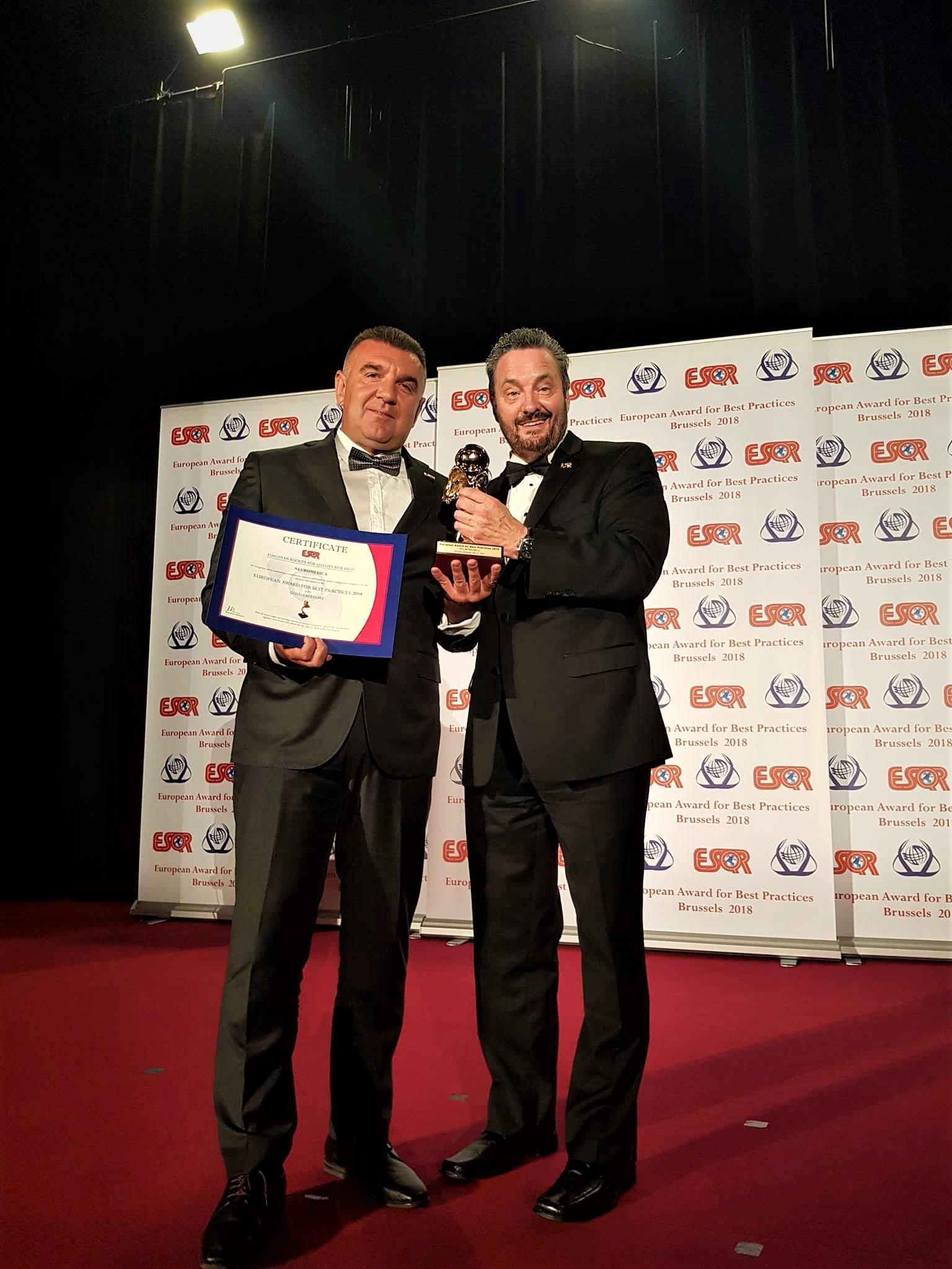 """Неуромедика ја доби наградата """"Бест практис"""" за 2018"""