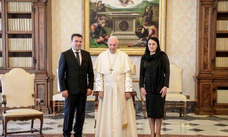 Заев на прием кај папата: Свети Кирил и Методиј се силни темели за историските врски меѓу Македонија и Ватикан