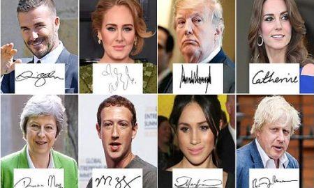 Потписите ги откриваат тајните на Меган Маркл, Трамп, Закерберг...