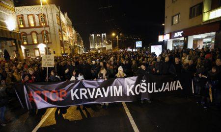 """""""Стоп на крвавите кошули"""" – протест во Белград"""
